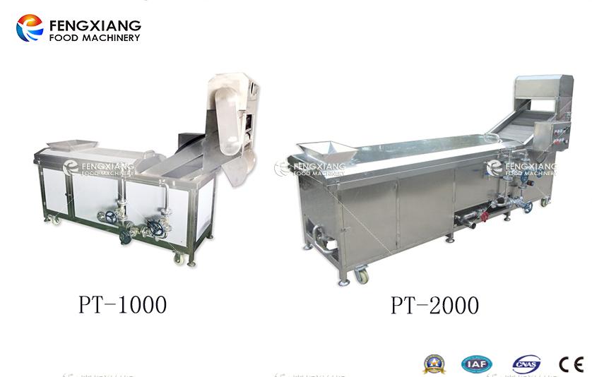 凤翔提供两个型号的漂烫机:PT-1000/PT-2000
