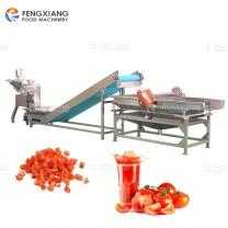 凤翔 番茄切丁机 番茄肉汁分离加工线
