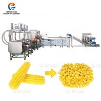 凤翔 甜玉米全自动生产线 玉米脱粒漂烫清洗风干线