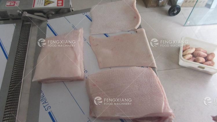 pork skin removing machine