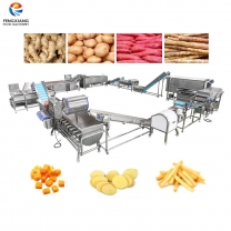 凤翔 木薯清洗去皮切丁生产线 木薯加工线